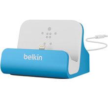Belkin Mixit nabíjecí a sychronizační dok pro iPhone 5/SE, vč. light. konektoru, modrá - F8J045btBLU