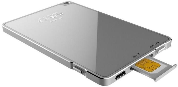 Dual SIM rozšiřovač Devia pro iPhone - stříbrný