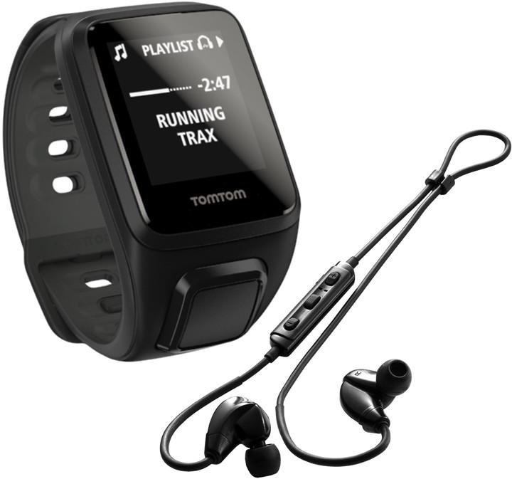 TOMTOM Spark Fitness Cardio + Music (S), černá + bluetooth sluchátka