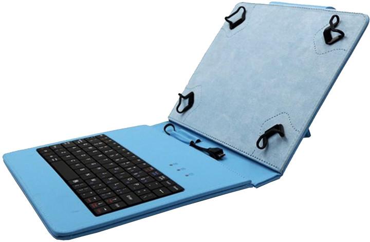 """C-TECH PROTECT NUTKC-02, pouzdro s klávesnicí pro 8"""", modrá"""