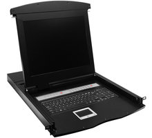 """Digitus Console 43,2cm (17"""") TFT, US keyboard, 16-Port, touchpad - DS-72003US"""