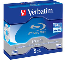 Verbatim BD-R DL, 6x, 50GB, 5 ks, jewel - 43748