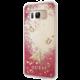 Guess Liquid Glitter Hard Case pro Samsung G955 Galaxy S8 Plus, Rapsberry