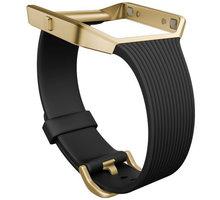 Fitbit Blaze Slim řemínek zlatý kov L, černá - FB159ABGBKL