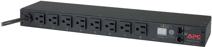 APC rack PDU, měřené, 1U, 15A, 100/120V, (8) 5-15
