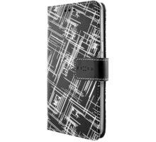 FIXED Opus pouzdro typu kniha pro Samsung Galaxy J3 (2016), motiv White Stripes - FIXOP-102-WS