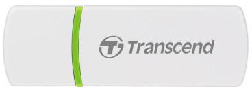 Transcend - čtečka karet SD/SDHC/MicroSD - bílá