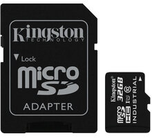 Kingston Industrial Micro SDHC 32GB Class 10 UHS-I + SD adaptér - SDCIT/32GB