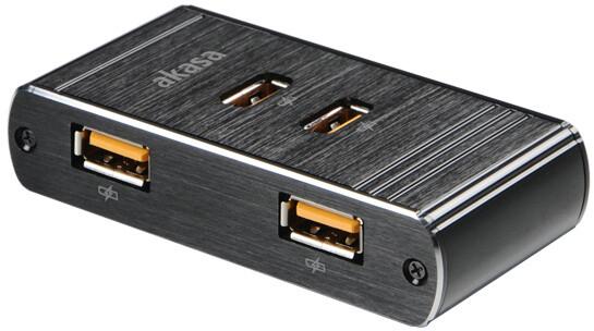 Akasa USB hub, Alu, adaptér