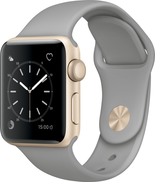 Apple Watch 2 38mm Gold Aluminium Case with Concrete Sport Band
