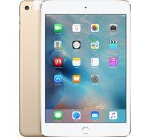 APPLE iPad Mini 4, Cell 128GB, Wi-Fi, zlatá - MK782FD/A + Zdarma GSM T-Mobile SIM s kreditem 200Kč Twist (v ceně 200,-)