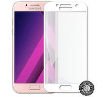 Screenshield temperované sklo na displej pro Galaxy A3 2017 (A320), kovový rámeček, bílá - SAM-TGFCWMFA320-D