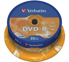 Verbatim DVD-R AZO 16x 4,7GB spindl 25ks - 43522