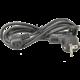 PremiumCord napájecí 220V k počítači - 1,8m (zalomený)