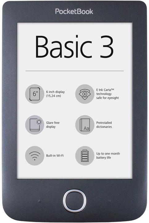 PocketBook 614+ Basic 3, černá