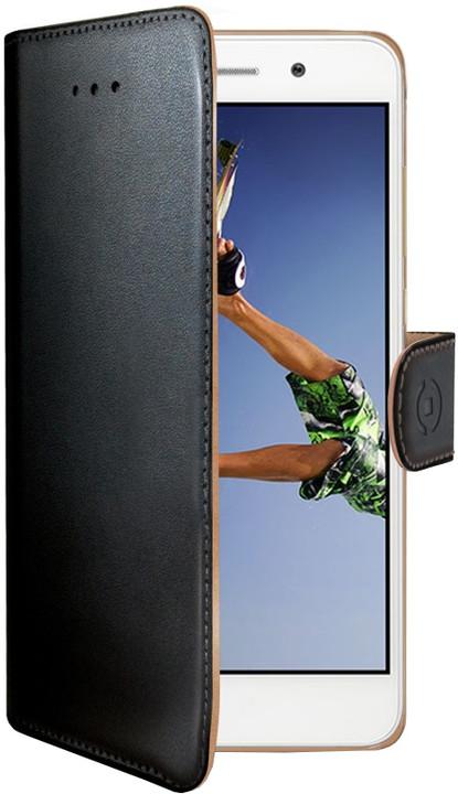 CELLY Wally Pouzdro typu kniha pro Huawei Y6 II/Honor 5A, PU kůže, černé