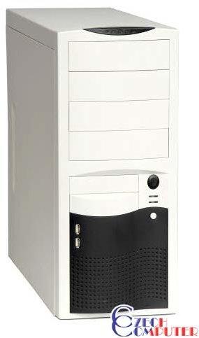 EuroCase ML5410 bílo/černá - Middletower 400W