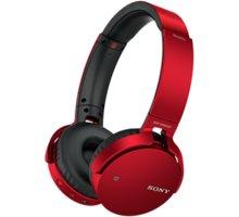 Sony MDR-XB650BT, červená - MDRXB650BTR.CE7 + Sluchátka SONY MDR-EX15LPB, černá