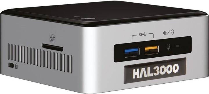 HAL3000 NUC Kit Core i3, černostříbrná
