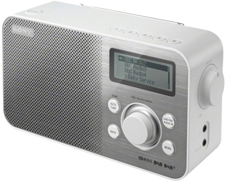 Sony XDR-S60DBP, bílá
