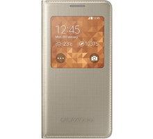Samsung S-view EF-CG850B flipové pouzdro pro Galaxy Alpha (SM-G850), zlatá - EF-CG850BFEGWW