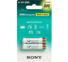 Sony NiMH nabíjecí baterie AAA / 800 mAh / 2 ks v blistru - NH-AAAB2KN