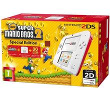 Nintendo 2DS bílá/červená + New Super Mario Bros 2 - NI3H94003