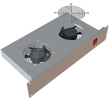 "Triton horizontální ventilační jednotka RAB-CH-X01-A1, 19"", 2U, 2x ventilátor, 220V/30W, šedá"