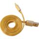Remax datový kabel s lightning konektorem pro iPhone, gumový, zlatá