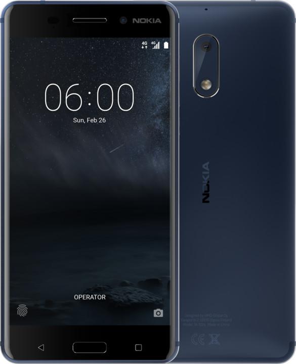 Nokia 6, Dual Sim, modrá