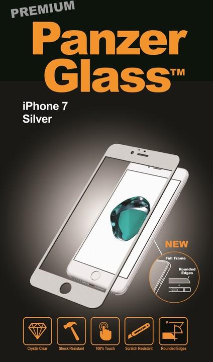 PanzerGlass ochranné sklo PREMIUM na displej pro Apple iPhone 7, stříbrná