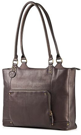 HP Ladies Leather Tote, hnědá