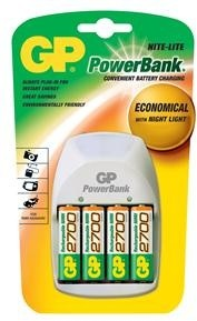 GP Power Bank Nite-Lite + 4x AA 2700 mAh