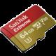 SanDisk Micro SDXC Extreme V30 - 64GB 90 MB/s UHS-I + SD adaptér