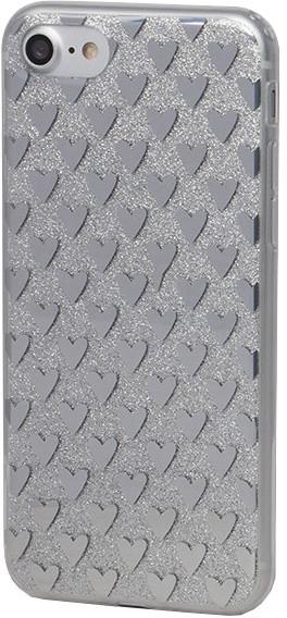 EPICO pružný plastový kryt pro iPhone 7 SILVER HEARTS