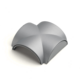 Meliconi 496000 Kryt pro vedení kabelů, 65 cm, stříbrná