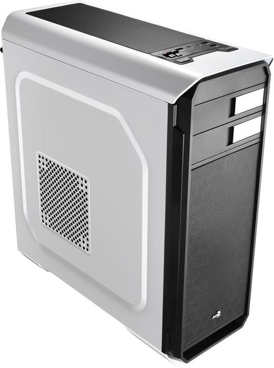 AeroCool AERO-500 WHITE, USB 3.0, bez zdroje