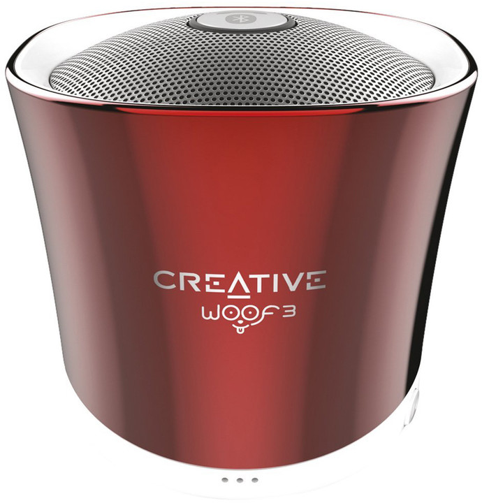 Creative WOOF3, přenosný, červená