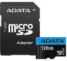 ADATA Micro SDXC Premier 128GB 85MB/s UHS-I U1 + SD adaptér - AUSDX128GUICL10 85-RA1