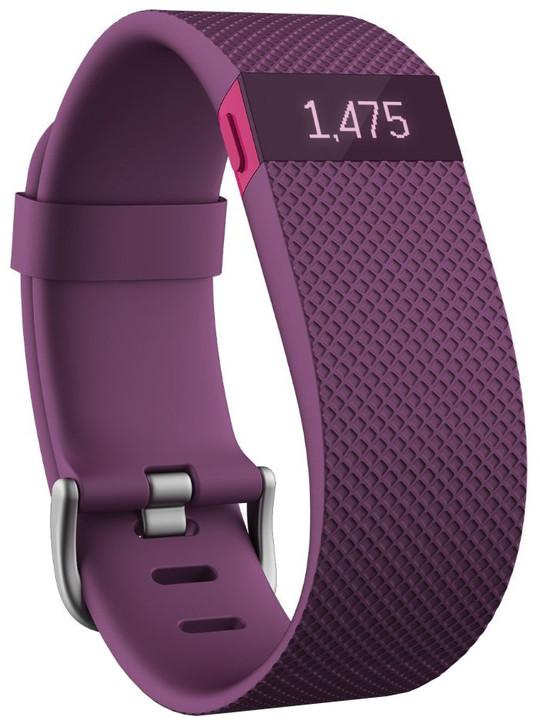 Fitbit Charge HR, L, fialová