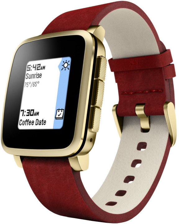 Pebble SmartWatch Time Steel, zlatá