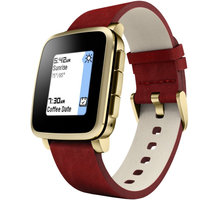Pebble SmartWatch Time Steel, zlatá - PEBBLETIMESTGD