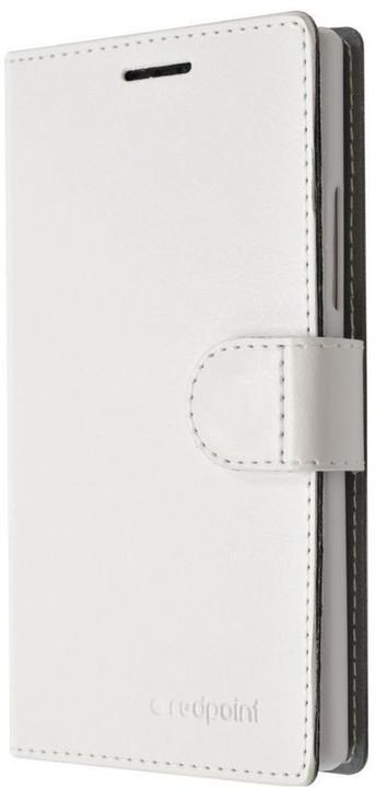 FIXED FIT pouzdro typu kniha pro Lenovo Vibe K5/K5 Plus, bílá
