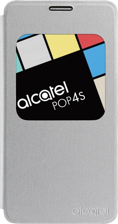 ALCATEL AF5095 Aero FlipCase POP 4S, stříbrná
