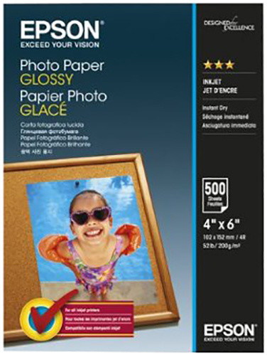 Epson Photo Paper Glossy, 10x15 cm, 500 listů, 200g/m2, lesklý