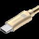 CONNECT IT Wirez Steel Knight USB-C (Type C) - USB-A, metallic gold, 2,1A, 1 m