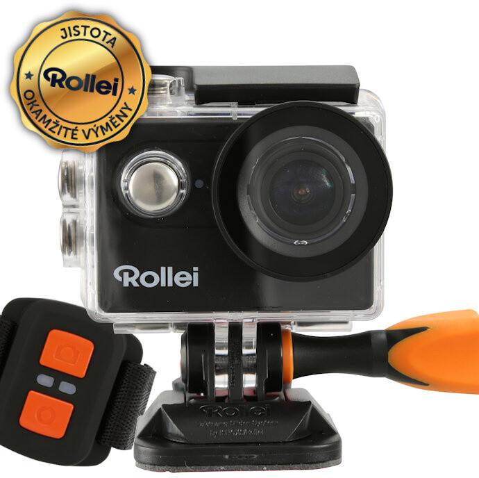 Rollei ActionCam 425 WiFi černá + náhradní baterie + 16GB karta ZDARMA