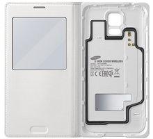 Samsung flipové pouzdro S-View EP-VG900B pro Galaxy S5, bílá (bezdrátové nabíjení)