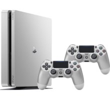 PlayStation 4 Slim, 500GB, stříbrná + 2x DS4 - PS719848769