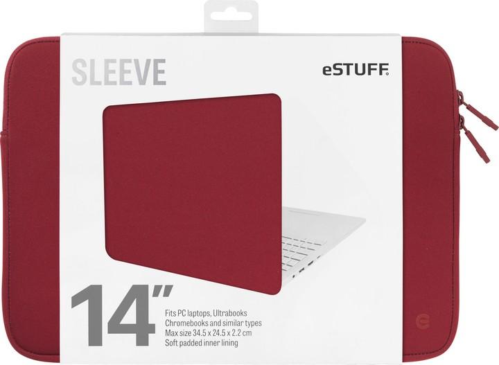 eSTUFF Ultrabooks, Chromebooks 14'' Sleeve - Fits PC Laptops, maroon